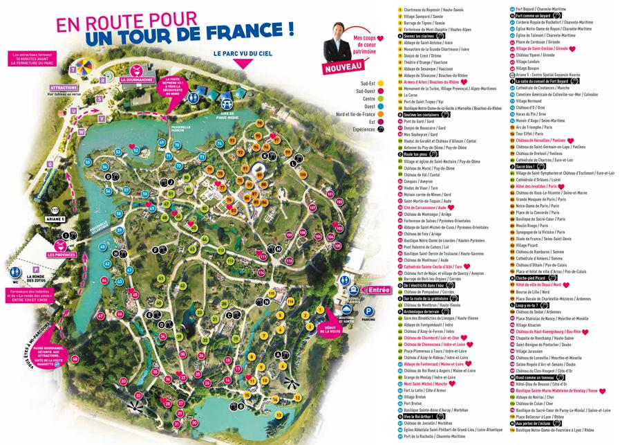 plan du parc France miniature